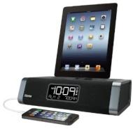 iHOME Stereo FM Clock Radio for iPhone & iPod iDN45 Black