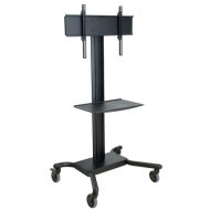 SR560M Mobile Cart for 32 to 60 inch Flat Panel Televisions and Monitors - Includes: Universal Monitor Mounting Plate (Metal Shelf)