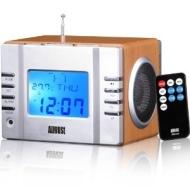 August MB300 - Radiowecker - MP3 Player / Stereoanlage - Uhrenradio - AUX-eingang / Kartenlesser / USB-Ein / 2x3W Lautsprecher / Eingebauter aufladbar