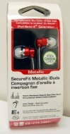G-Cube SecureFit Metallic iBuds - Red (4th Gen)