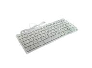GTMax Super Slim USB 2.0 Mini Keyboard (78 Keys) - White/Silver