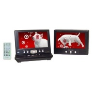 "Magnavox 7"" Dual Screen Portable DVD Player - Black (MPD722D)"