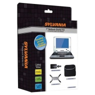 "Sylvania 7"" Portable DVD Player, LCD Screen, Rechargeable 2.5 Hour Lithium Battery, Diamond Textured Cover (SDVD7002B)"