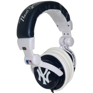 iHip New York Yankees  MLB10279NYY DJ Style Headphone with Splitter and Volume Control (Blue/White)