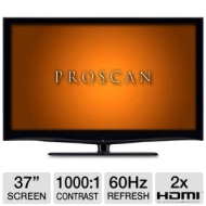 Proscan PLED3792A 37 Class LED HDTV - 1080p 1920 x 1080 16:9 60Hz 1000:1 5 ms HDMI USB New