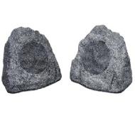 """New 6.5"""""""" Woofers Outdoor Garden Waterproof Granite Rock Patio Speaker Pair 2R6G"""