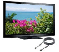 "Panasonic 60"" Diag. 1080p Plasma HDTV with 6' HDMI Cable"