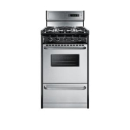 Summit 20 Gas Range - Stainless Steel