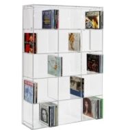 SORA Acrylic CD Rack with transparent back-panel