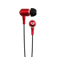 Hip Street HipBudz Antimicrobial Noise Isolating Stereo EarBuds With In-Line Volume Control (Red)