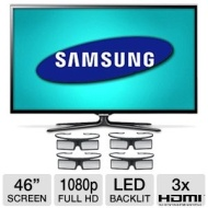 Samsung Series 6 46-inch LED TV - UN46ES6580 1080p Smart 3D HDTV with Four Pairs of 3D Glasses