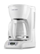 Black & Decker DLX1050 12-Cup Programmable Coffee Maker - White