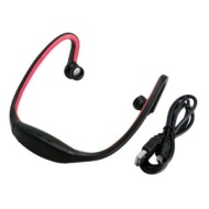 Black Red Wireless Bluetooth Stereo Sports Headphone Headset for iPhone 5 4 4S