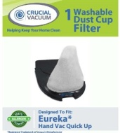Eureka Vacuum Quick Up Washable & Reusable Filter; Compare to Eureka Vacuum Part # 39657