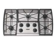 KitchenAid KGCS166GSS 38 in. Gas Cooktop