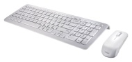 Perixx PERIDUO-710W UK, Wireless Keyboard and Mouse Set - Compact 389x142x25mm Dimension - Piano White - 2.4G - Up to 10 Meters Operating Range - Chic