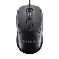 Belkin 3-Button Wired USB Optical Mouse for PCs, Desktops and Laptops