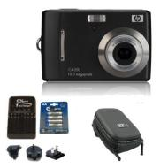 "Ex-Pro Bundle HP CA350 Black Digital Camera (10.3 Megapixel, 3x Optical Zoom, 2.7"" LCD, up to 3200 ISO, Smile Blink & Face Detection) with Ex-Pro Cla"