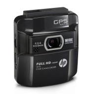 HP f210 Car Cam BlackCar Video Camera with 2.4-Inch LCD (Professional Black)
