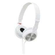 MDR ZX300 hoofdtelefoon - wit + Etui CSCASEBK voor hoofdtelefoon