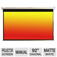 "Mustang SC-M92D16:9 92"" 16:9 Manual Projector Screen-92"" Diagonal, Matte White-SC-M92D16:9-CA  SC-M92D16:9-CA"
