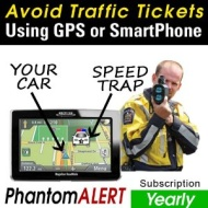 PhantomALERT Red Light Camera, Speed Camera, and Speed Trap Detector Software for Select Garmin, TomTom, and Magellan GPS (1-Year Download Subscriptio