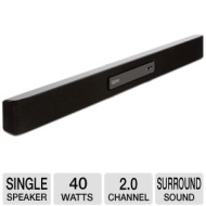 Seiki 2.0 HD Surround System Soundbar - 40 Watts Total, Yamaha Digital Amplifier Built-In, Bass Booster, Volume Control, Black - SB2025  SB2025