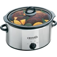 Crockpot SCV400PSS 3.5 Litre Slow Cooker, Polished Stainless Steel Finish