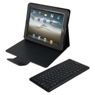 Wireless & Detachable/Removable with Built-in Bluetooth Leather Keyboard Case for Apple iPad3 ipad2 ipad1