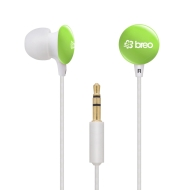 Breo Candy Drop Earphones - Green