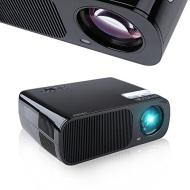 Crenova® BL-20 Portable HD LED Projector Adjustable Focus 800*480 1080P Multi-Media Cinema Theater 2600 Lumens Home Theater Support PC Laptop 2x HDMI