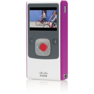 Flip Video Ultra HD Pocket Camcorder 4GB - White/Magenta