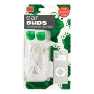 DCI 18220 Frog Earbuds - Wired Headsets - Retail Packaging - Green