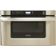 Sharp Microwave Drawer KB-6524PS - Microwave oven - built-in - 34 litres - 1000 W - stainless steel