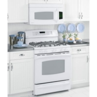 "GE Profile P2B918DEMWW 30"" Dual Fuel Range with 5 Sealed Burners, Center Oval & PowerBoil Burner, Non-Stick Griddle, 5.0 cu. ft. Self Clean Convectio"