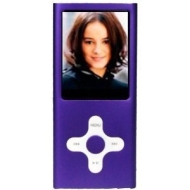 PURPLE 4GB MP3 / MP4 player Cross Style with FM Radio and Full Colour Screen -- holds 1000 songs -- NOT AN IPOD NANO