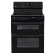 "LG 30"" Double Oven Gas Freestanding Gas Range - Black"