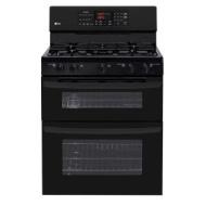 "LG 30"" Double Oven Gas Freestanding Gas Range - Black"