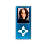 BLUE 4GB MP3 / MP4 player Cross Style with FM Radio, and Full Colour Screen -- holds 1000 songs -- NOT AN IPOD NANO