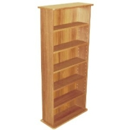 CHAK - 222 CD or 104 DVD Blu-ray Media Storage Shelf Unit - Beech