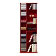 CLAREMONT - CD DVD Blu-ray Video Multimedia Storage Unit - Mahogany