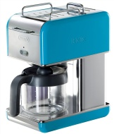 DeLonghi Kmix 10-Cup Drip Coffee Maker, Blue