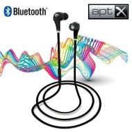 7dayshop R7 Wireless Bluetooth 4.0 APTX Sport Stereo Earphones with Noise Cancelling Microphone & Volume Control - Black