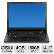 Dell Latitude E6400 Notebook PC - Intel Core 2 Duo 2.26GHz, 2GB DDR2, 80GB HDD, DVD-ROM/CD-RW Combo, Integrated Graphics, 14.1 in., Windows 7 Home Pre