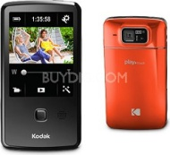 "Kodak Playtouch Orange 1080p HD Video Camera Camcorder w/ 3.0"" Touchscreen"