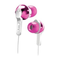 iLuv iEP322PNK City Lights In-Ear Earphones - Ultra Bass - Pink (Discontinued by Manufacturer)