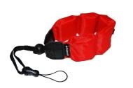 Polaroid Floating Wrist Strap Red for Underwater Waterproof Cameras/ Camcorders Housings