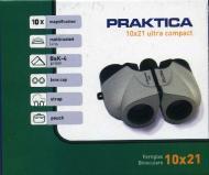 Praktica B00373 - Binoculares ultracompactos 10 x 21