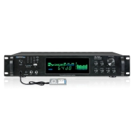 Technical Pro HB2502U, Digital Hybrid Amplifier/Premap/Tuner with USB and SD Card Inputs, Black
