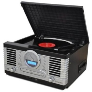 Trevi TT1064E Retro Vinyl Record Player System with CD Tape USB SD